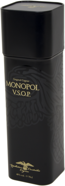 Custom made blik: original Monopol Cognac