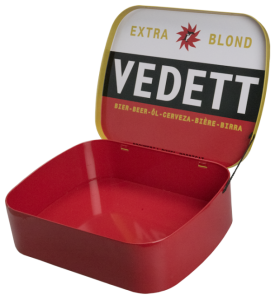 Vedett: custom made blik